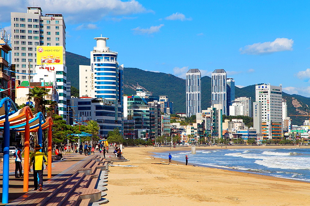 South Korea, Busan, Gwangalli Beach, skyline,. - 817-469822