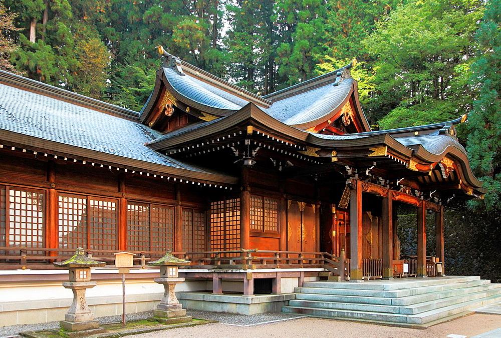 Japan, Hida, Takayama, Sakurayama Hachimangu, Shinto Shrine,.