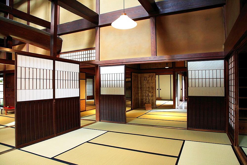 Japan, Hida, Takayama, Kusakabe Heritage House, interior,.