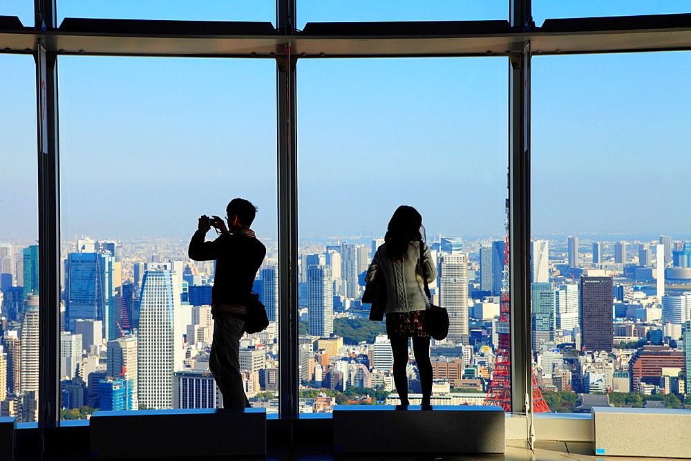 Japan, Tokyo, Roppongi Hills, Tokyo City View Observatory,.