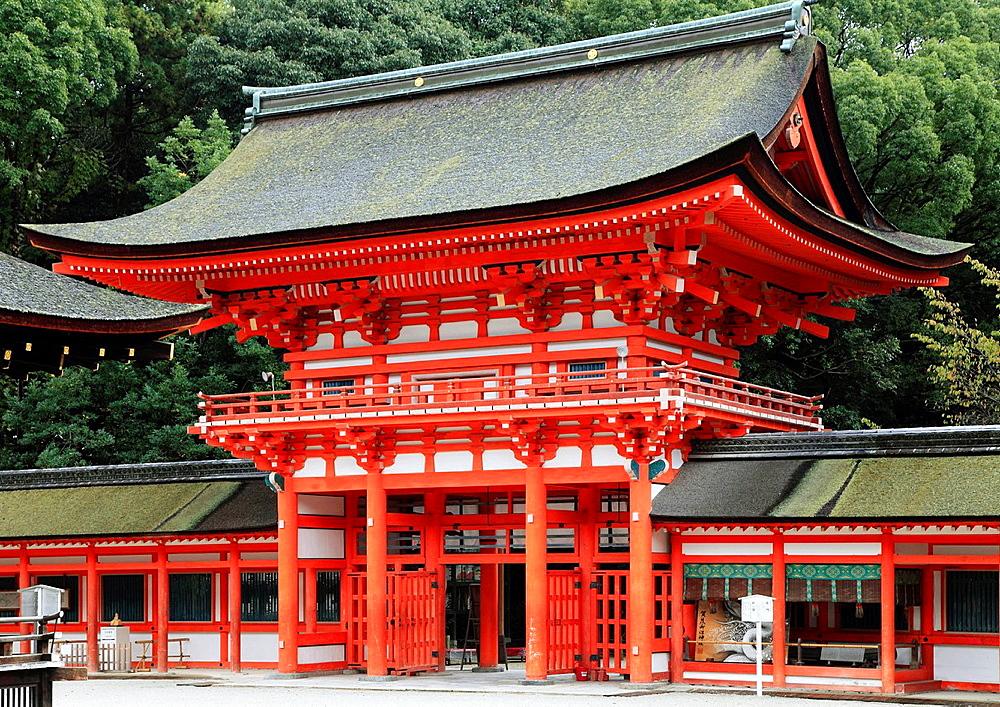 Japan, Kyoto, Shimogamo Shrine,.