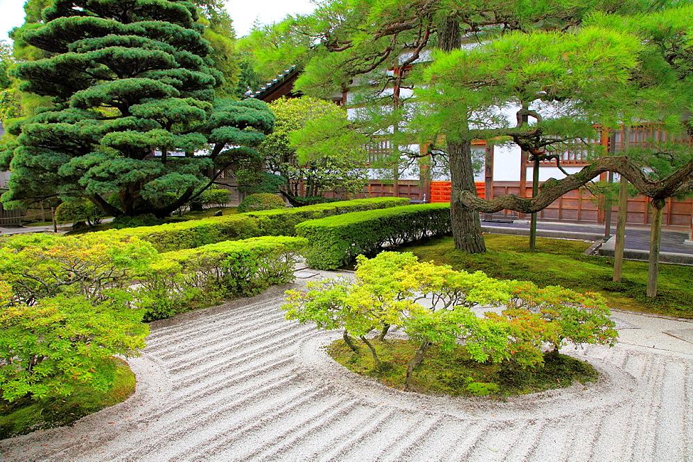 Japan, Kyoto, Ginkakuji Temple, sand garden,.