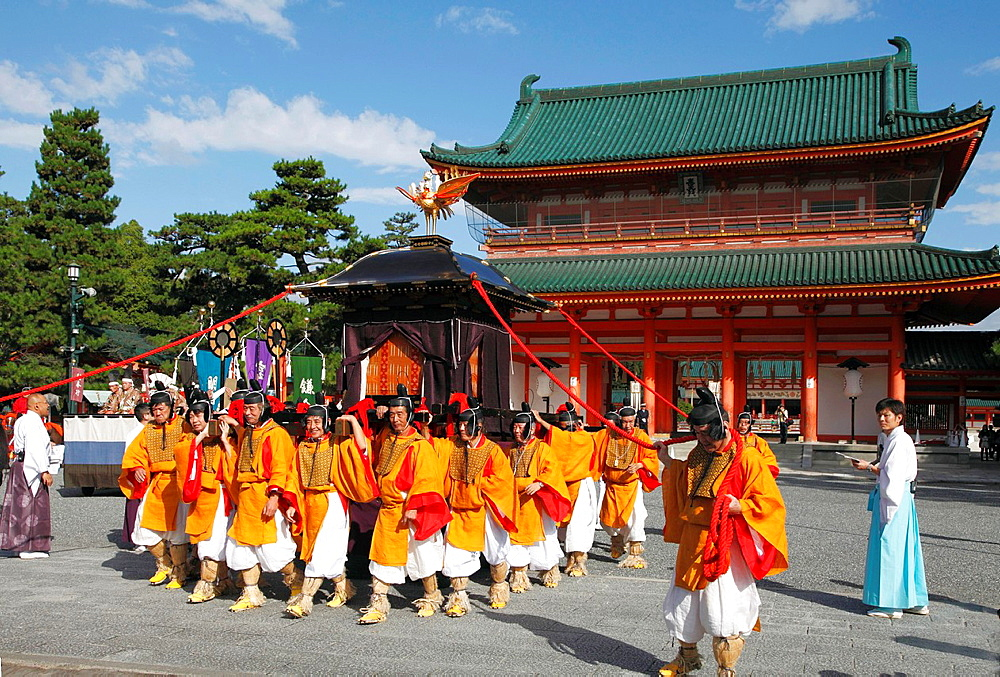 Japan, Kyoto, Heian shrine, Jidai Matsuri, festival, people,.