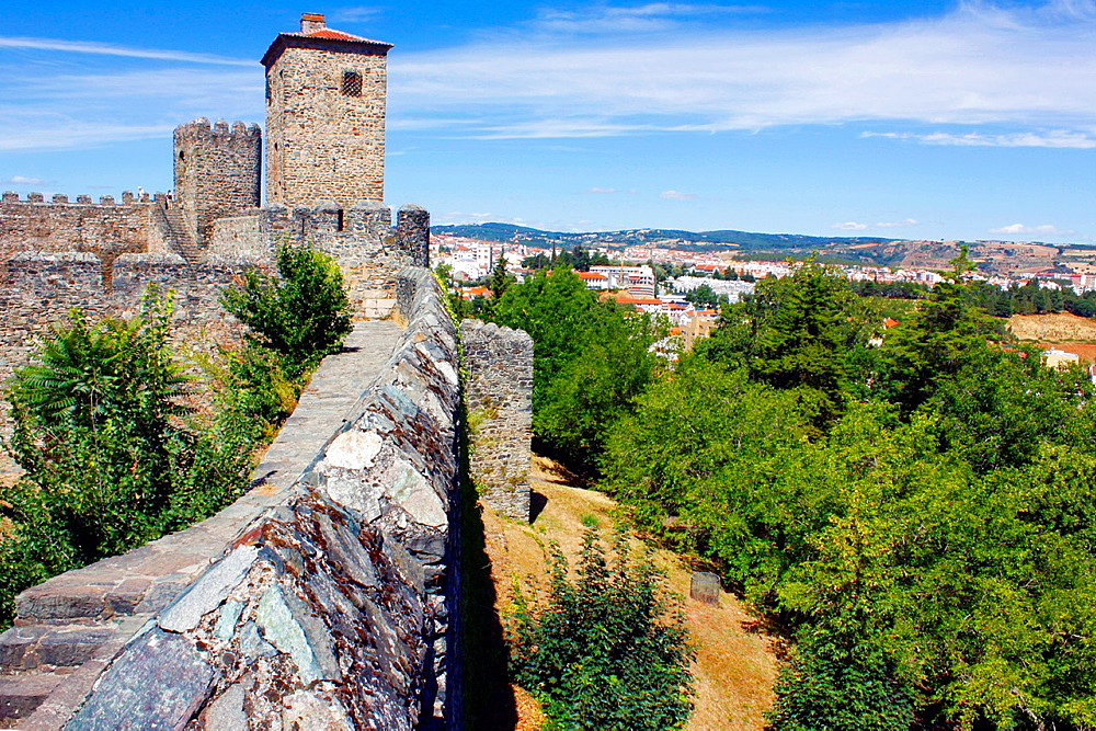 Castle of Braganca with rampart, Portugal.