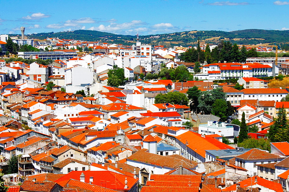 Lower town with roofs of Braganca, Portugal.