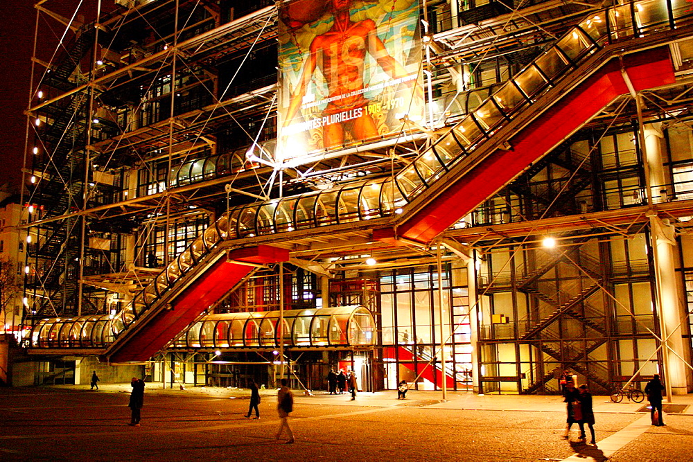 National Center for Art and Culture Georges Pompidou, Paris, ile-de-France, France, Europe.