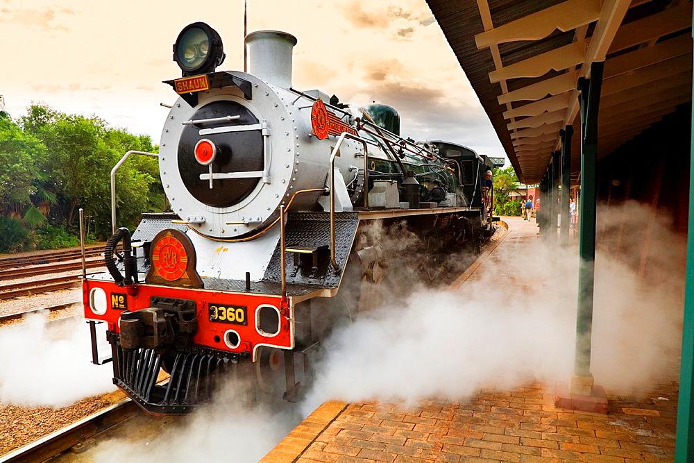 rovos rail train in pretoria stration.