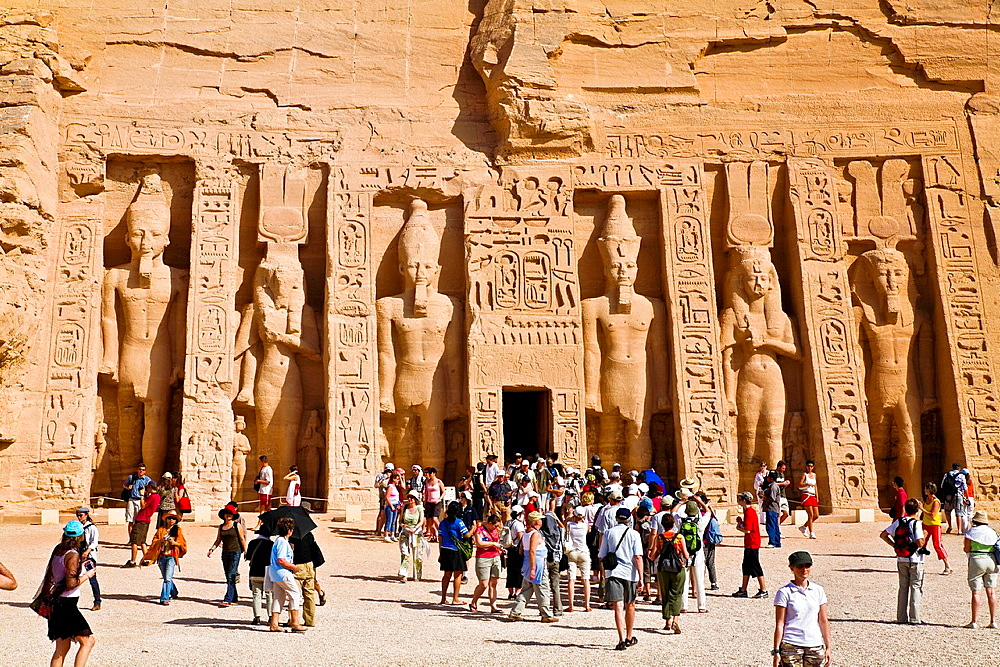 nefertari temple in abu simbel ruins. egypt.
