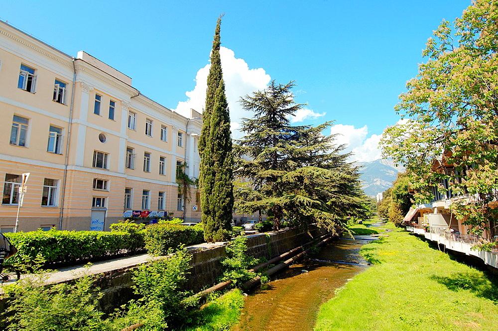 Historical Center, Yalta, Crimea, Ukraine, Eastern Europe.