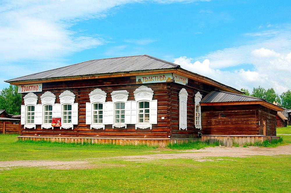 Russian tavern, 'Taltsa's' (Talzy), Irkutsk architectural and ethnographic museum. Baikal, Siberia, Russian Federation.