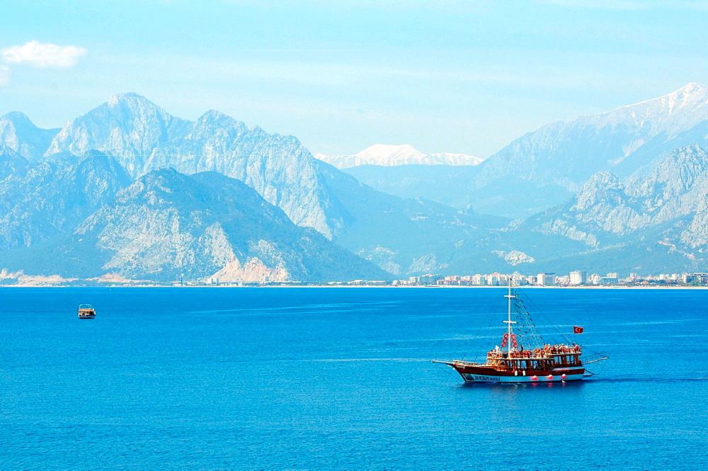 tourist ship, Antalya, Turkey, Western Asia.