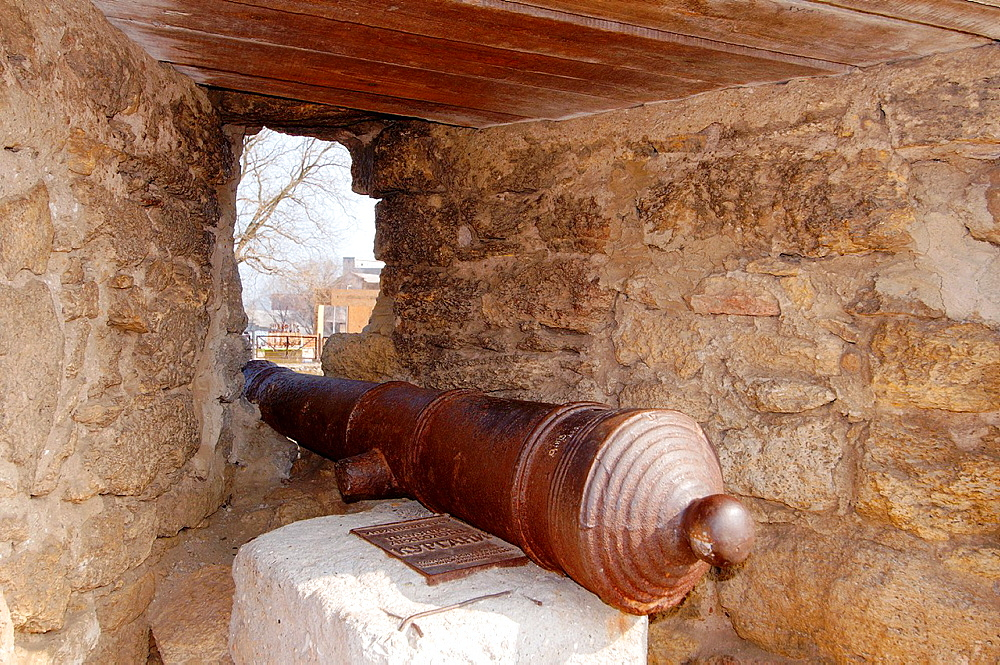 Cannon, Akkerman fortress (white rock, white fortress), Belgorod-Dnestrovskiy, Ukraine, Eastern Europe.