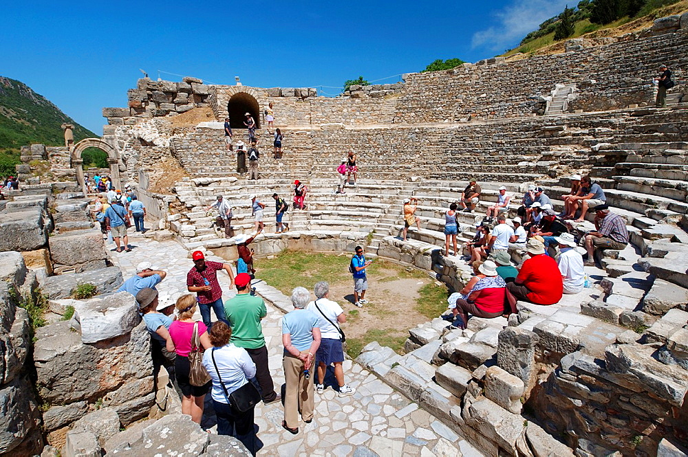 Roman theater, antique city of Ephesus, Efes, Turkey, Western Asia.