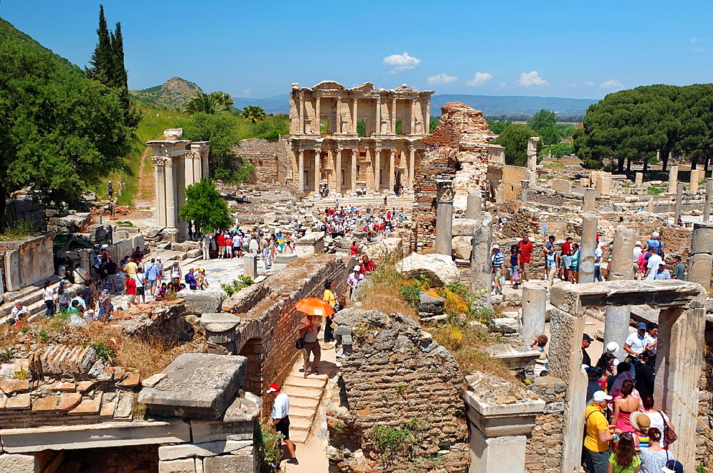 Library of Celsus, antique city of Ephesus, Efes, Turkey, Western Asia. - 817-470827