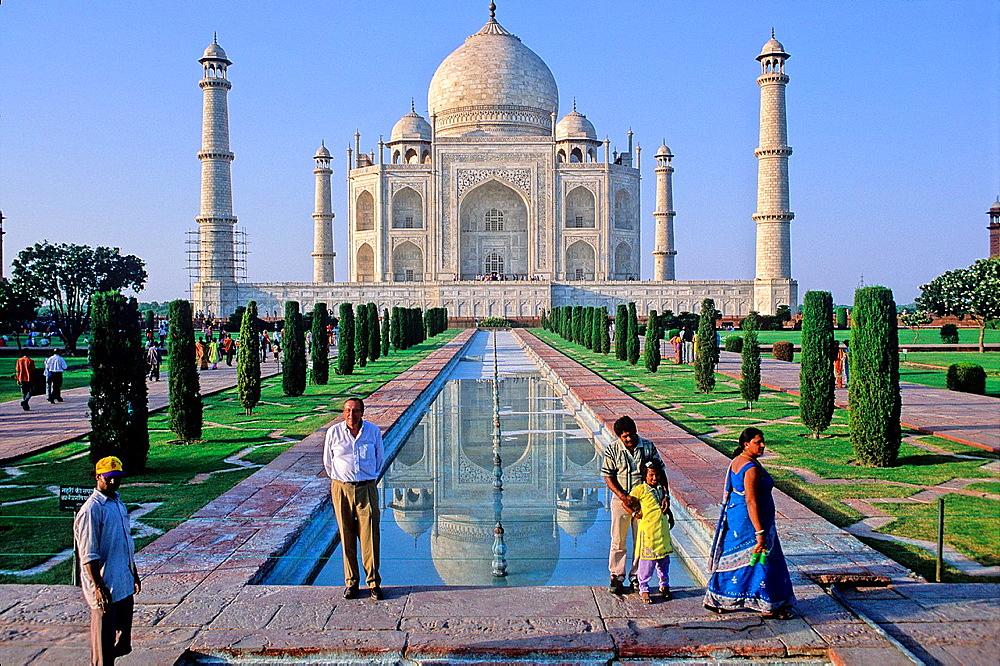 The Taj Mahal, Agra, Uttar Pradesh State, India