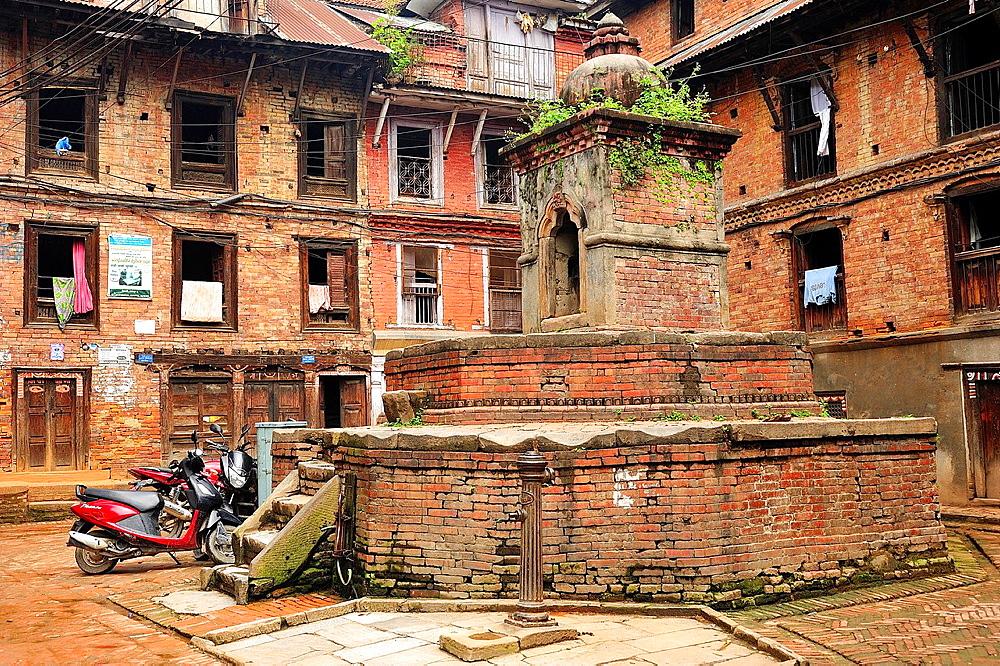 Little Hindu temple on a square, Bhaktapur, Nepal
