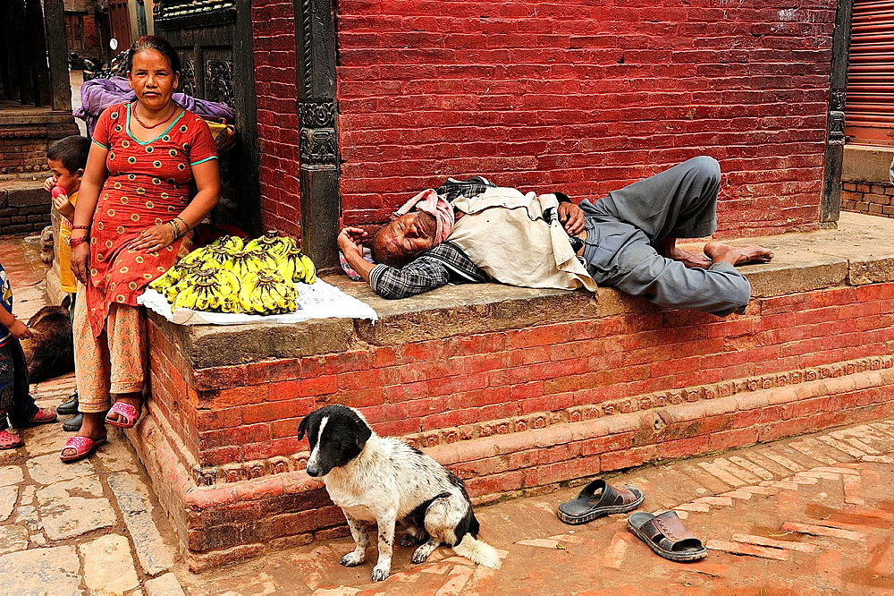 Street scene, Bhaktapur, Nepal