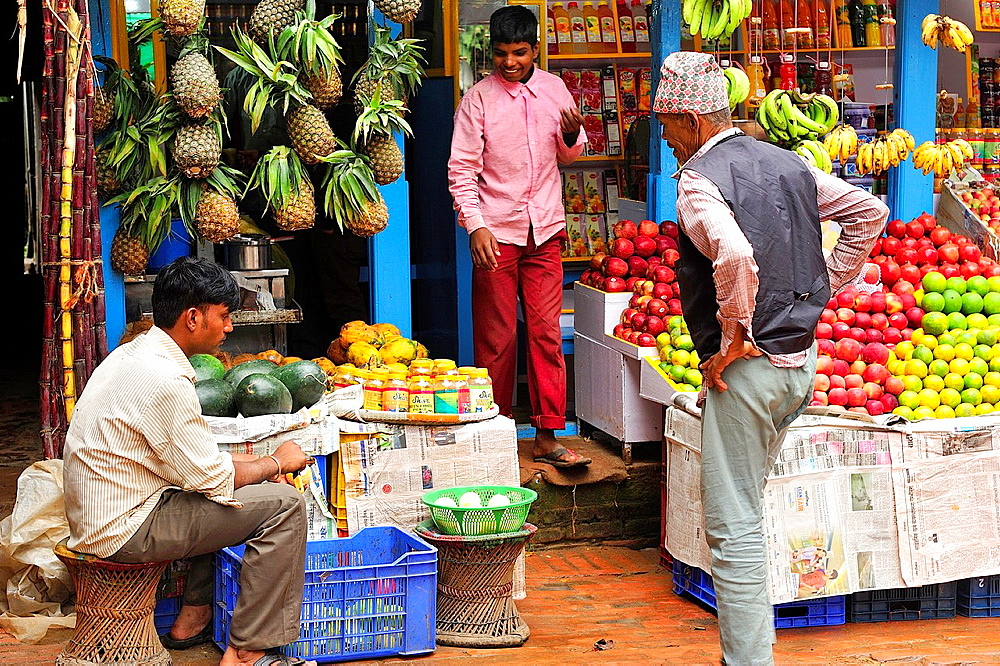 Fruit shop, Bhaktapur, Nepal