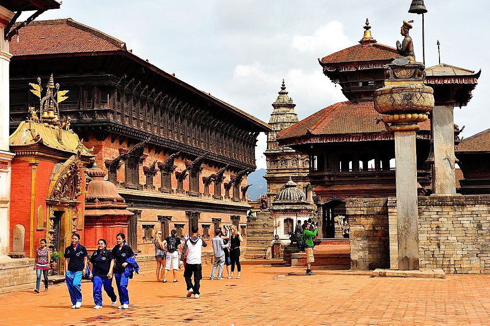 Lu Dhowka or the Golden Gate and the Palace of Fifty-five Windows, Durbar Square, Bhaktapur, Nepal
