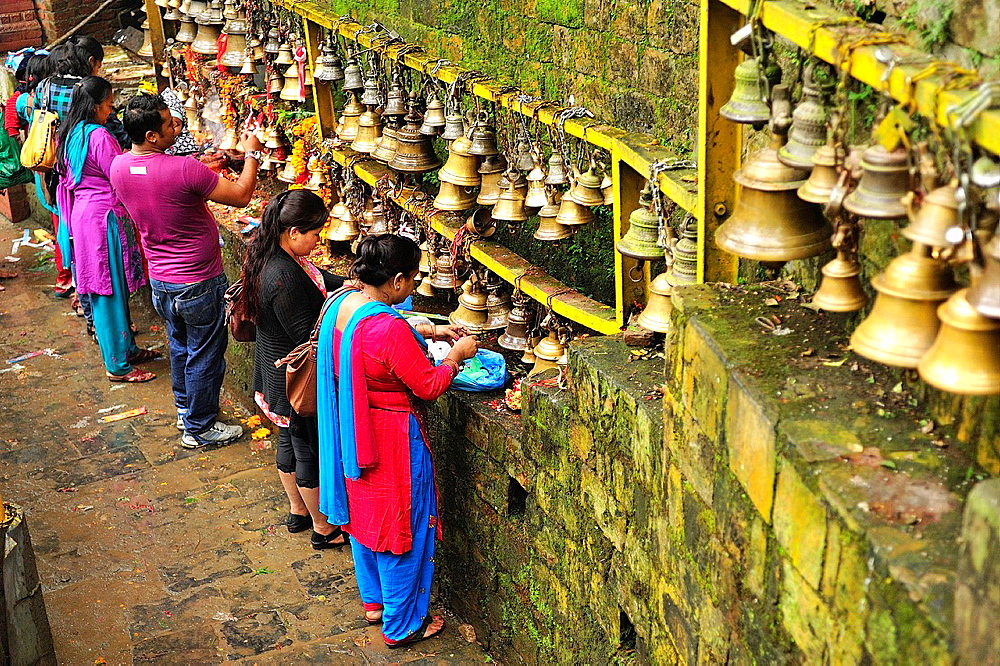 Hindu people offering to goddes Kali at Dakshinkali Temple in Dhasain Festival, Kathmandu Valley, Nepal