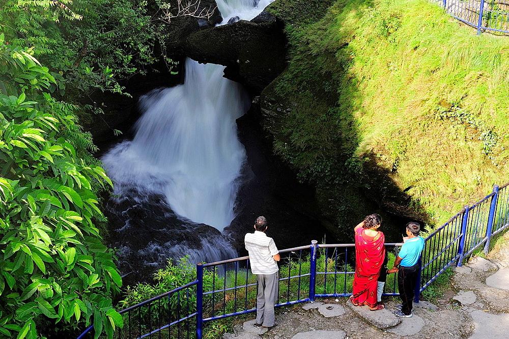 Waterfall in the river Pardi Khola, Pokhara, Nepal