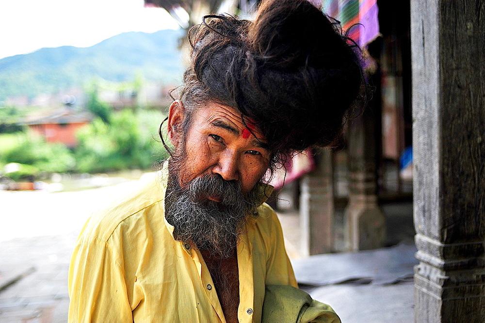 Sadu, Hindu ascetic, Panauti, valley of Kathmandu, Nepal