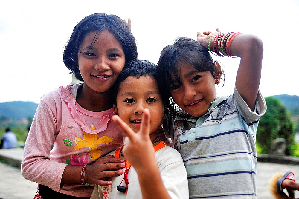 Children, valley of Kathmandu, Nepal