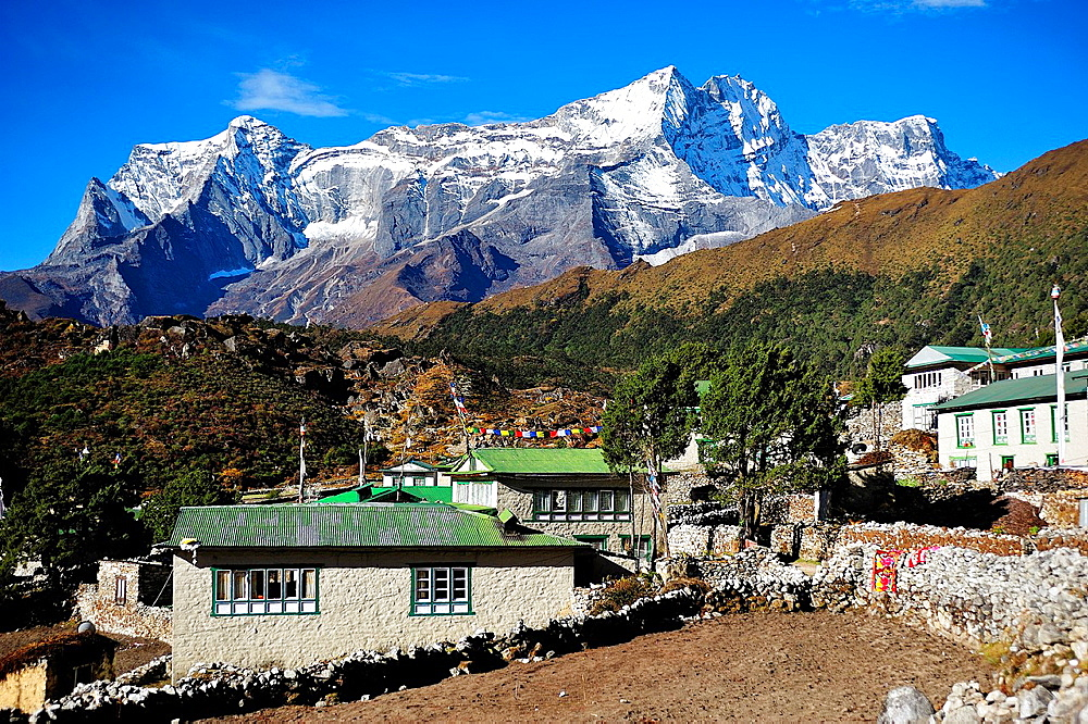 Khumjung, Sagarmatha National Park, the Himalaya range, Khumbu area, Solukhumbu District, Sagarmatha Zone, Nepal