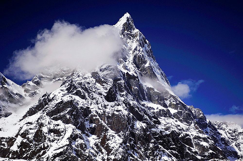 Ama Dablam Peak, 6.812 mts., Sagarmatha National Park, the Himalaya range, Khumbu area, Solukhumbu District, Sagarmatha Zone, Nepal