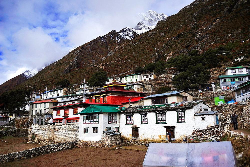 Pangboche village, Sagarmatha National Park, the Himalaya range, Khumbu area, Solukhumbu District, Sagarmatha Zone, Nepal