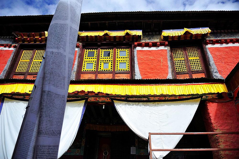 Buddhist monastery of Pangboche, Sagarmatha National Park, the Himalaya range, Khumbu area, Solukhumbu District, Sagarmatha Zone, Nepal