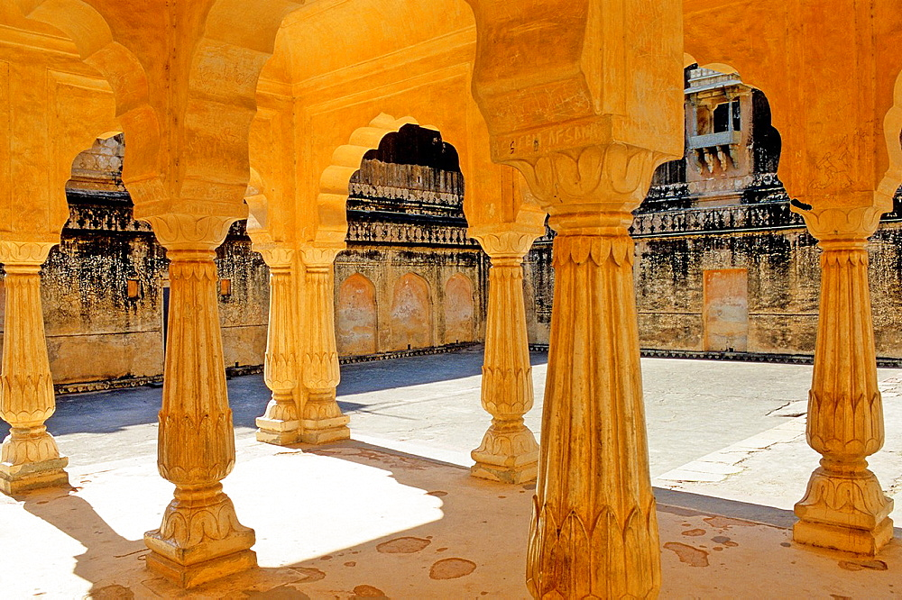 Amber Fort or Amer Palace, next to Jaipur, Rajasthan state, India