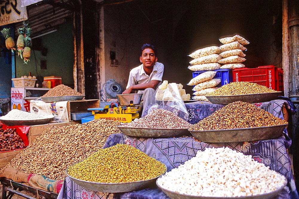 Market of spices, Bikaner, Rajasthan state, India
