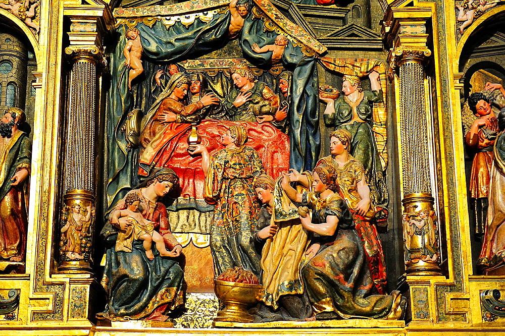 Chapel of Nativity, altarpiece, XVI century, Cathedral, Burgos, Spain - 817-471345