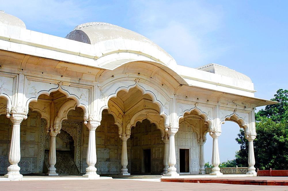 Shah Jahanís private working area- Shahi Bur. Red fort Complex, Delhi, India.