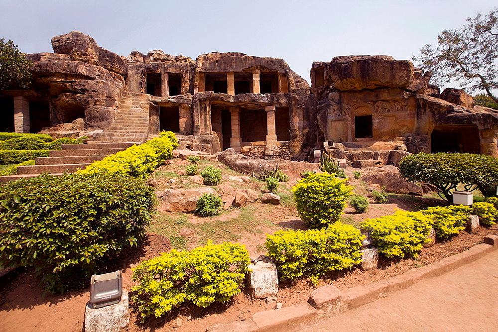 Entrance to the Udaigiri caves. Orissa, India.