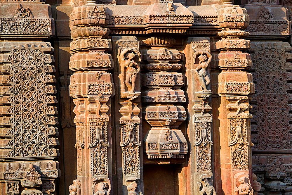 Muktesvara Temple - Sculpture details. Hindu temple dedicated to Shiva. Bhubaneshwar, Odisha, India