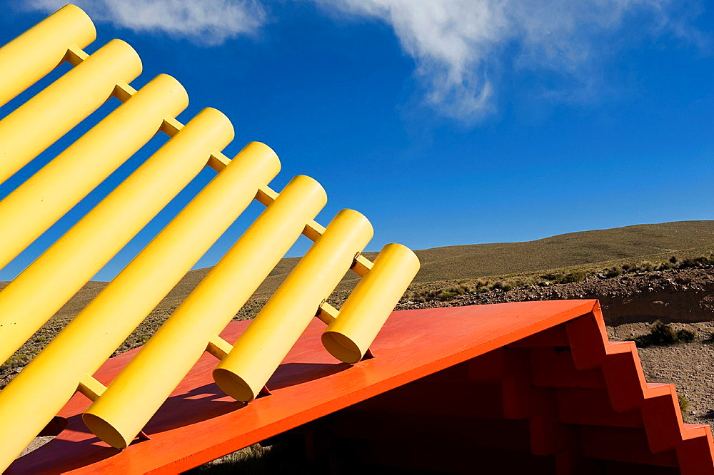 Modern sculpture, Lauca national park, Arica and Parinacota Region, Chile. - 817-472236