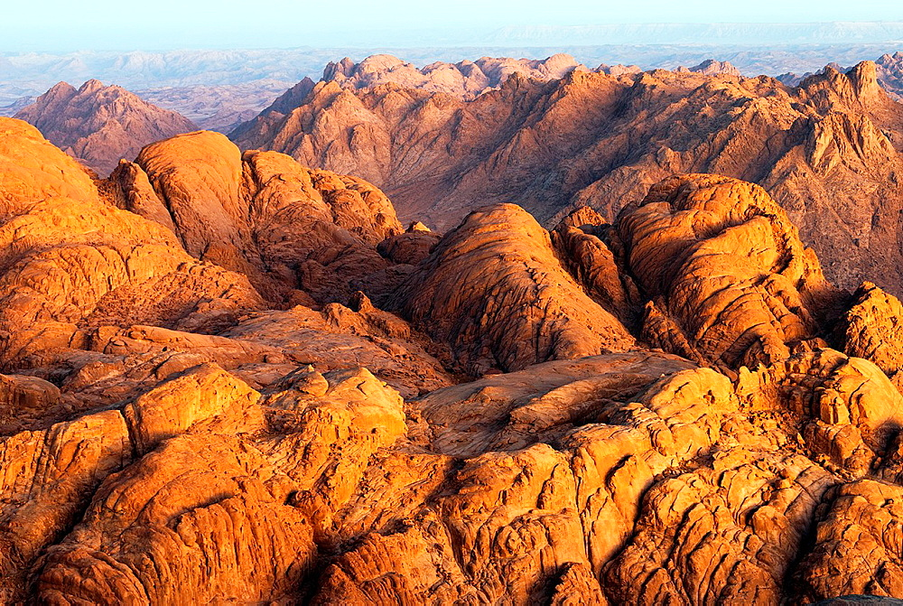 Sinai Mountains at sunrise - Sinai Peninsula, Egypt. - 817-472248