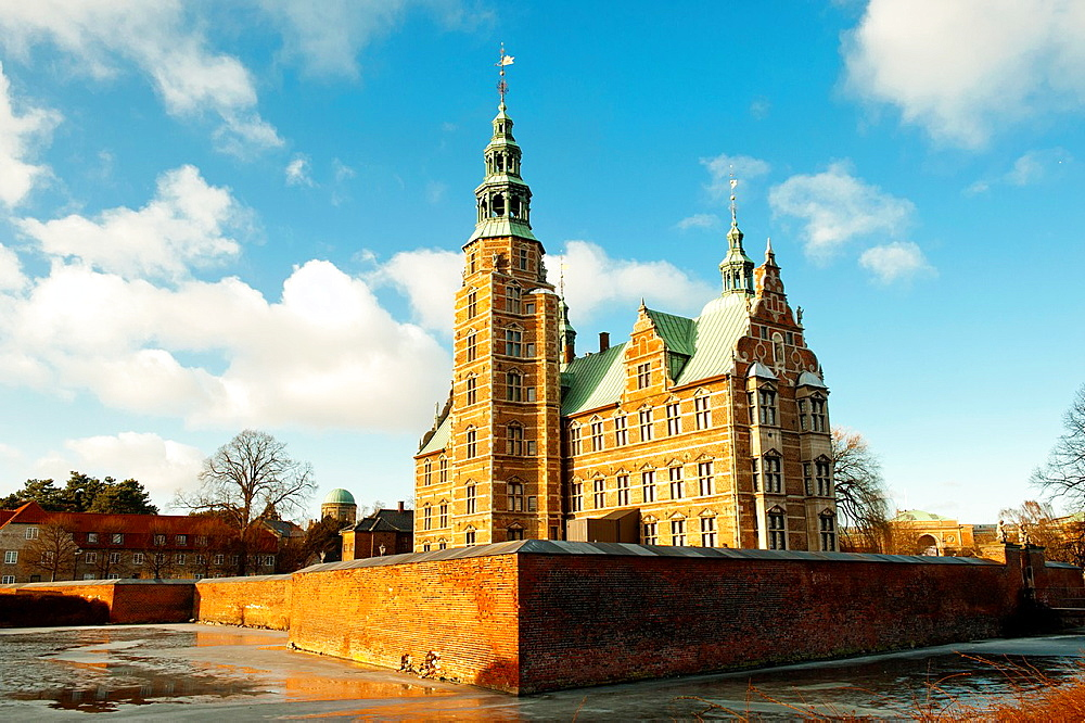 Rosenorg Castle is the royal residence in Copenhagen Denmark. - 817-472324