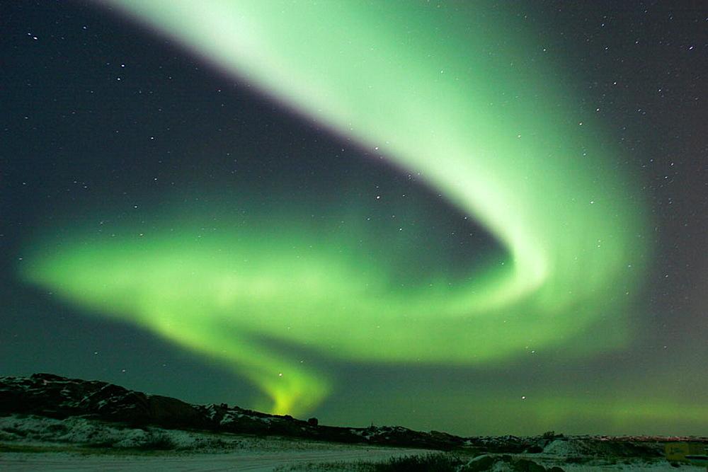 The Aurora Borealis (Northern Lights) in late fall just outside Churchill, Maitoba, Canada. - 817-47402