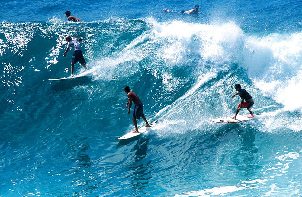 Surfing, Maui island, Hawai