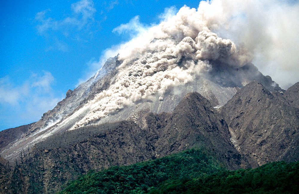 Soufriere Hills volcano, Montserrat Island, UK.