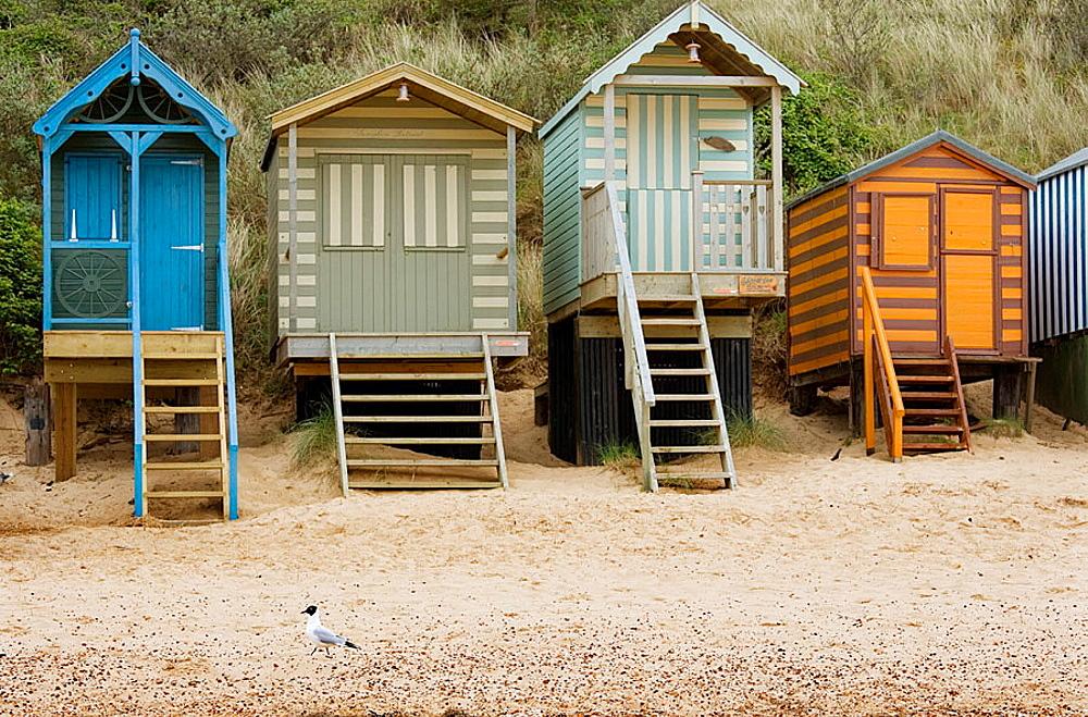 Beach Huts, Holkham Beach, North Norfolk, UK