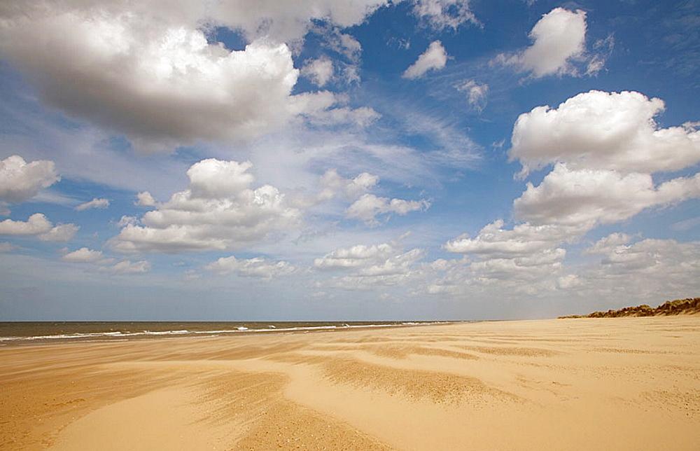 Holkham Beach.North Norfolk Coast, UK, May