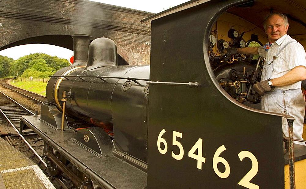 Weybourne Station, Steam locomotive, Norfolk, UK.