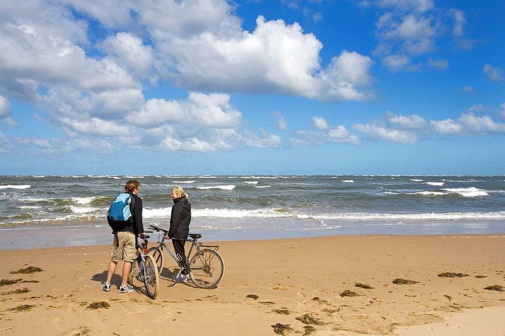 Cycling Holkham Beach North Norfolk Coast
