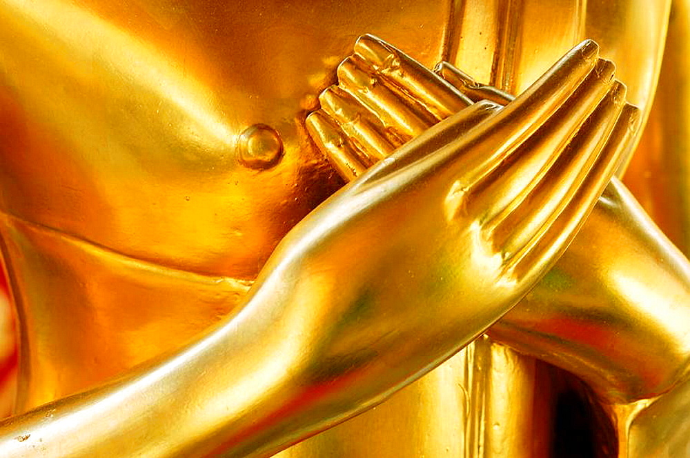 Hands of golden buddha figure, Wat Phra That Doi Suthep, Chiang Mai, Thailand - 817-49872