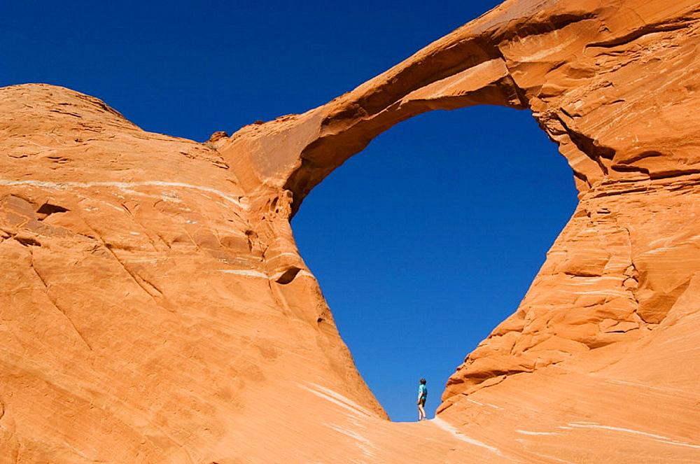 Natural Arch, Ventana Mesa, Navajo Reservation, Arizona, USA