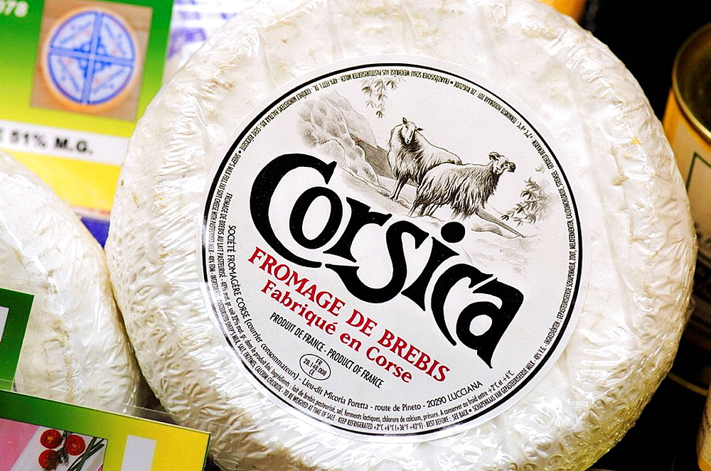 Corsican cheeses.